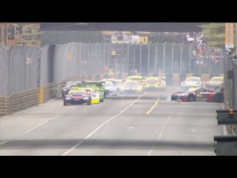 FIA GT World Cup 2016. Qualification Race Macau Grand Prix. Edoardo Mortara Start Crash