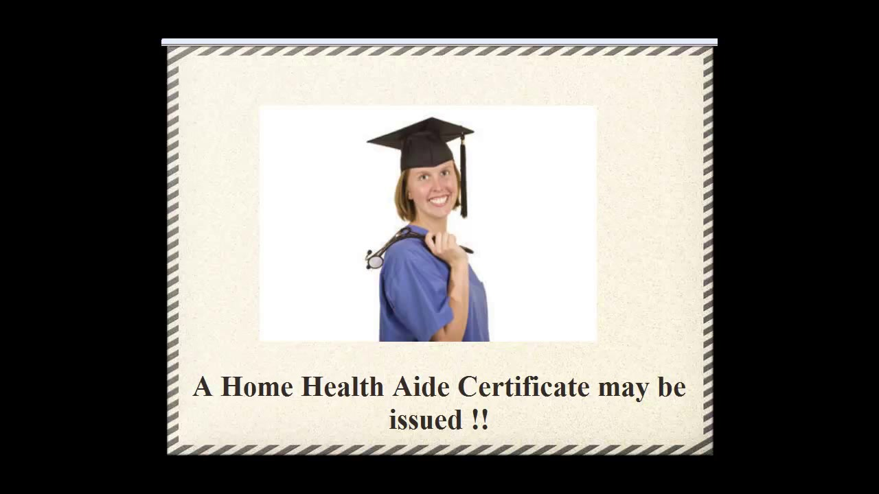 Certified Nursing Assistant Conversion To Home Health Aide Youtube