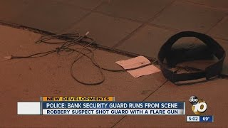 Police: Bank security guard runs from scene