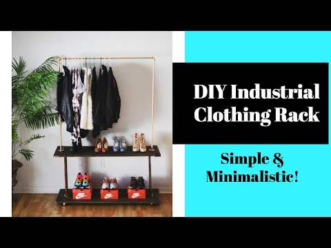 DIY Industrial Clothing Rack - Minimalistic - Display Your Clothes IN STYLE! | Pre'Knechia Ja'Nae