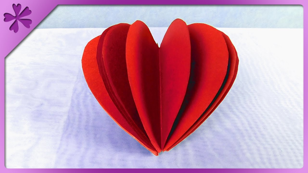 Diy 3d paper heart eng subtitles speed up 305 youtube jeuxipadfo Gallery