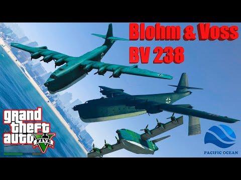 GTA V: Blohm & Voss BV 238 Falling into Deep Pacific Ocean Best Longer Crash and Fail Compilation