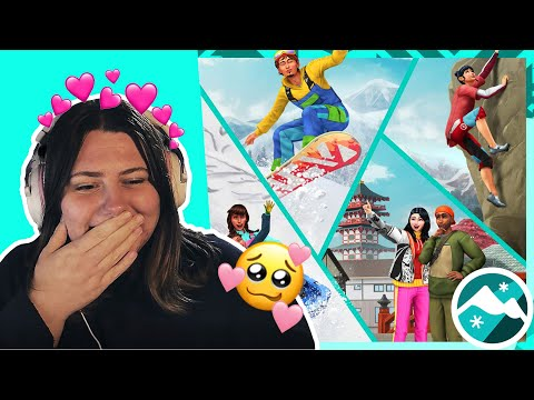 I'M IN LOVE | Sims 4 Snowy Escape Gameplay Trailer Reaction |