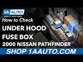 How to Check Under Hood Fuse Box 2000 Nissan Pathfinder
