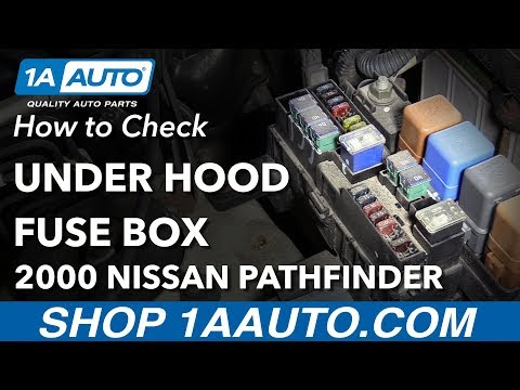 How To Check Under Hood Fuse Box 96-04 Nissan Pathfinder