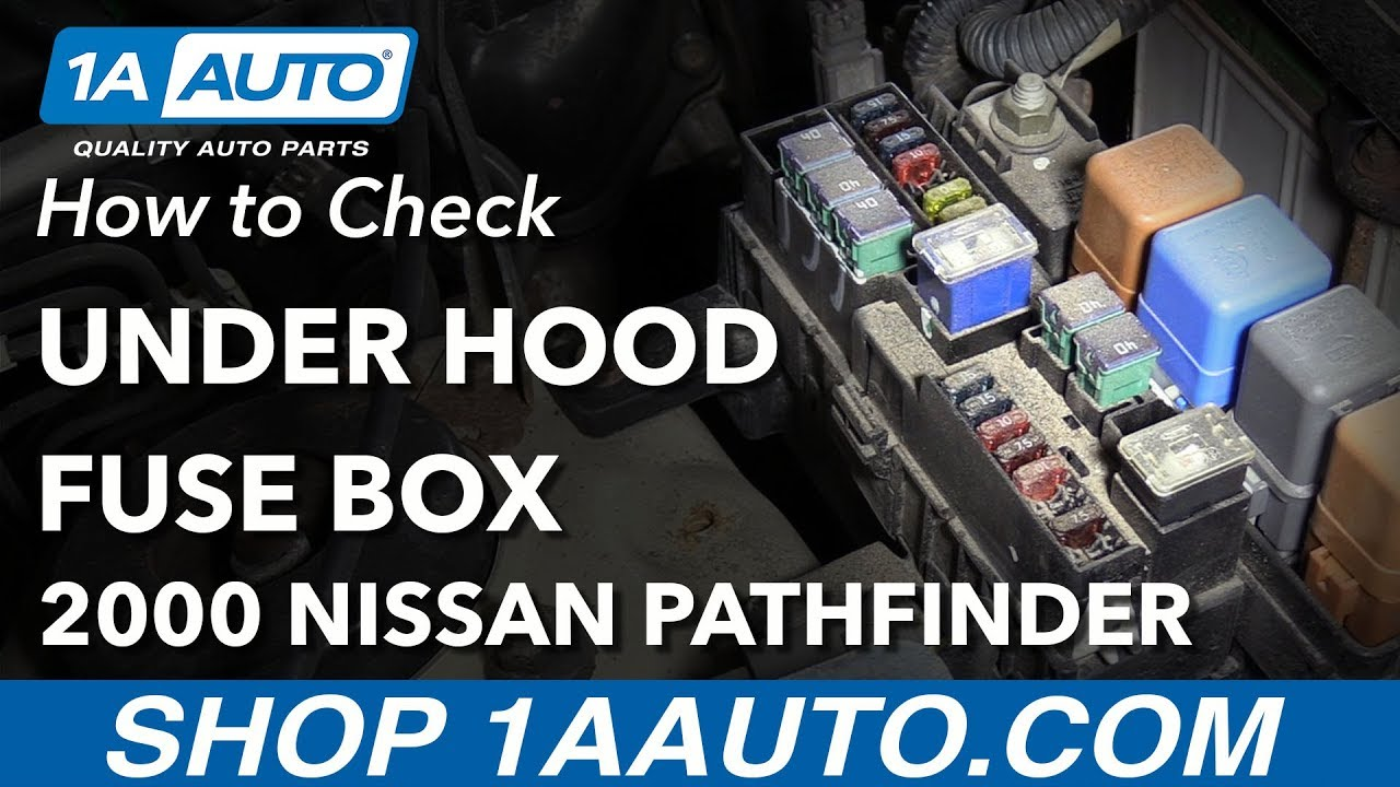 how to check under hood fuse box 96 04 nissan pathfinder 2001 Nissan Pathfinder Fuse Box Diagram fuse box on nissan pathfinder wiring