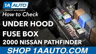 How to Check Under Hood Fuse Box 96-04 Nissan Pathfinder - YouTubeYouTube