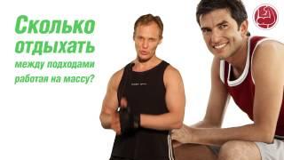 Сколько отдыхать между подходами работая на массу?(Узнай, как правильно составить диету и программу тренировок для набора мышечной массы! - http://vmassa.ru/video/?=youtube..., 2013-07-23T09:09:11.000Z)