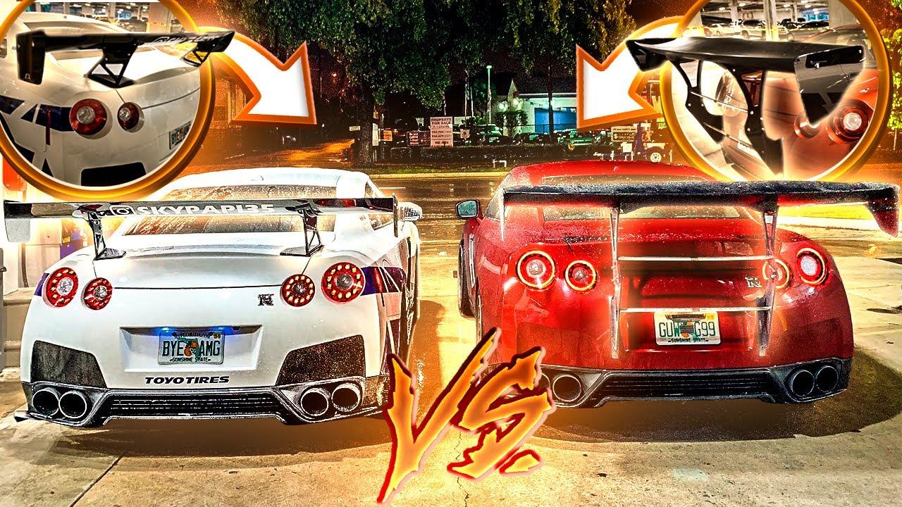 GTR VS GTR! QUAL AEROFÓLIO GANHA ?