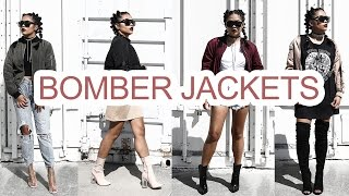 HOW TO STYLE BOMBER JACKET 8 DIFFERENT WAYS | LOOKBOOK