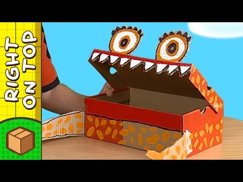 Crafts Ideas for Kids - Shoebox Monster | DIY on BoxYourSelf