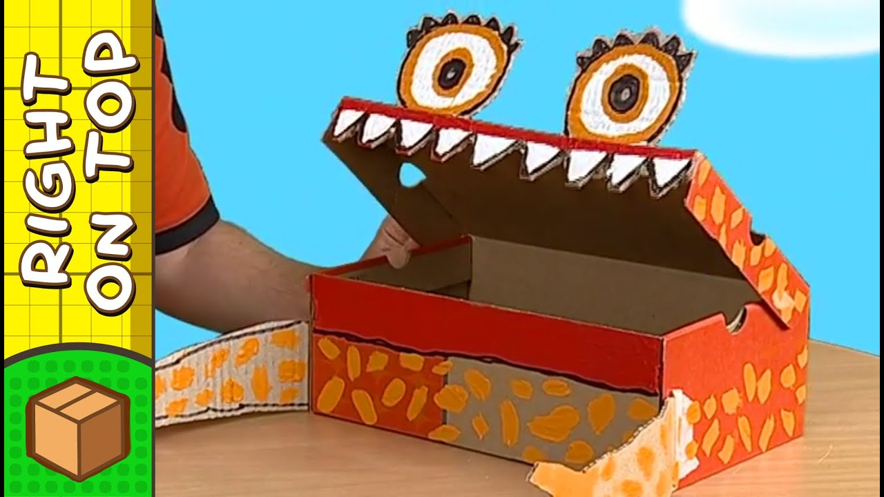Crafts ideas for kids shoebox monster diy on boxyourself youtube solutioingenieria