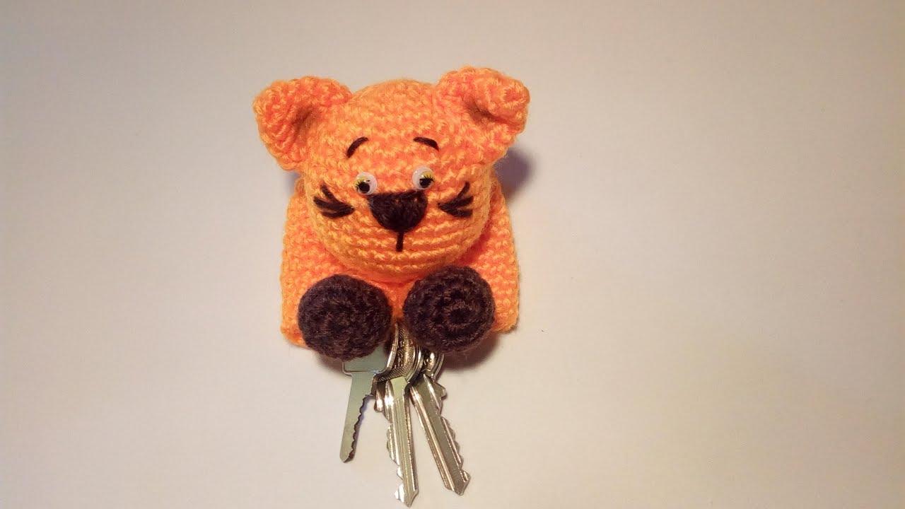 Amigurumi Gato Paso A Paso : Gattino portachiavi amigurumi tutorial key cover crochet llavero