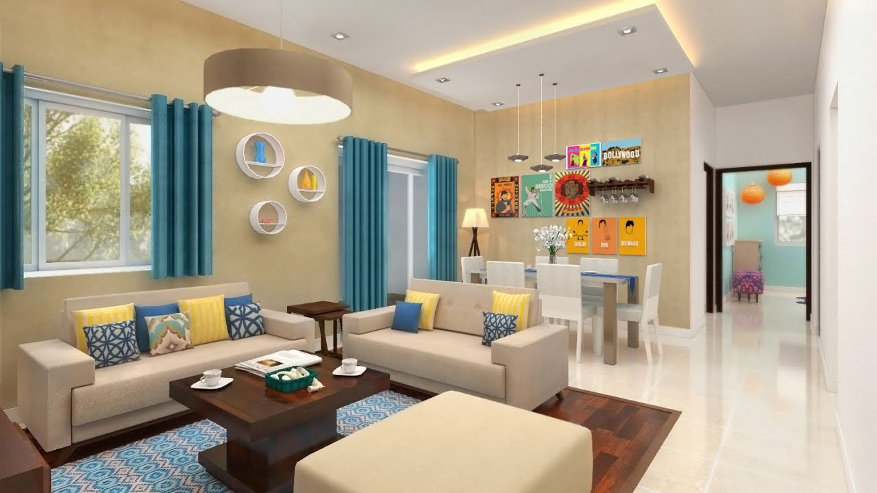 Furdo Home Interior Design Themes : Summer Hues | 3D Walk Through |  Bangalore