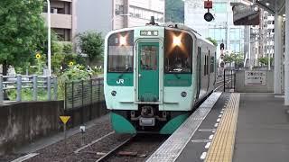 【単行DC到着】高徳線 1500形 普通高松行き 高松駅