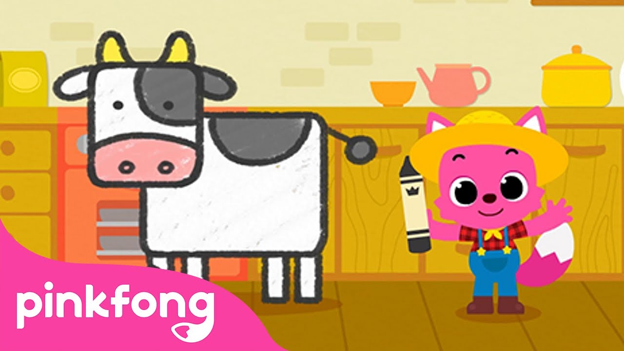 Moo-Moo Cow | Farm Animals | Chicken and Chicks | Pinkfong Animal Songs for Children