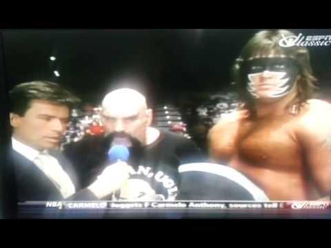 AWA Wrestling Eric Bischoff Interviews Ox Baker