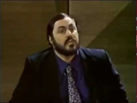 Luciano Pavarotti speaks about and demonstrates Covering the Sound.