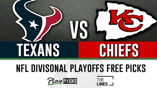 Texans vs Chiefs - Divisional Round Playoffs   NFL Sports Betting Free Picks