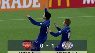 PES 2017 (PS2) Arsenal FC vs Leicester City - Premier League
