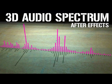 After effects : HOW TO MAKE 3D AUDIO SPECTRUM   tutorial