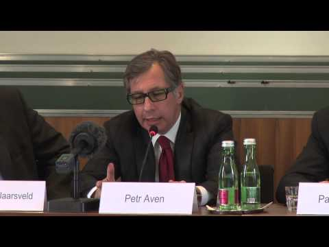 IIASA Alumni: Former Russian Minister and former President of Alfa Bank, Petr Aven