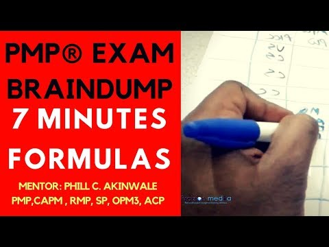 How to Do Your PMP Exam Brain-Dump Like a Boss!