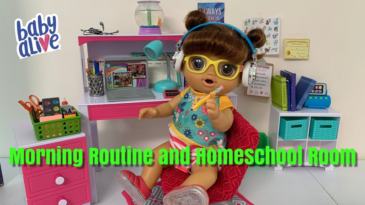Baby Alive Homeschool Morning Routine How To Setup Homeschool Room Tour - YouTube