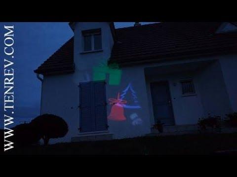 projecteur de no l sur la fa ade de la maison magnifique illumination youtube