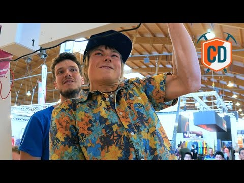 Alex Megos' Impressive Display Of Finger Strength At #Outdoor2016 | Climbing Daily Ep. 744
