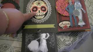 Celebrating Dia de los Muertos Flip Book for a swap