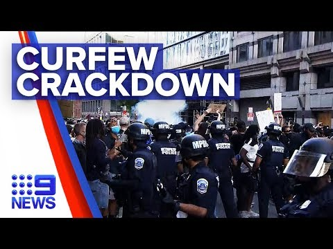 US Protests: Strict curfews enforced as death toll grows | Nine News Australia