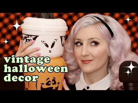 My 90's Childhood Halloween Decorations! (ASMR soft spoken + whisper with tapping)