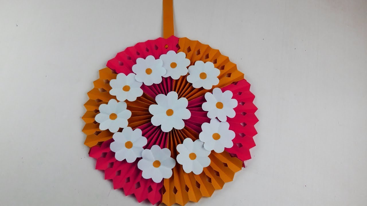 Diy Wall Hanging Home Decoration Ideas Paper Flower Wall Hanging