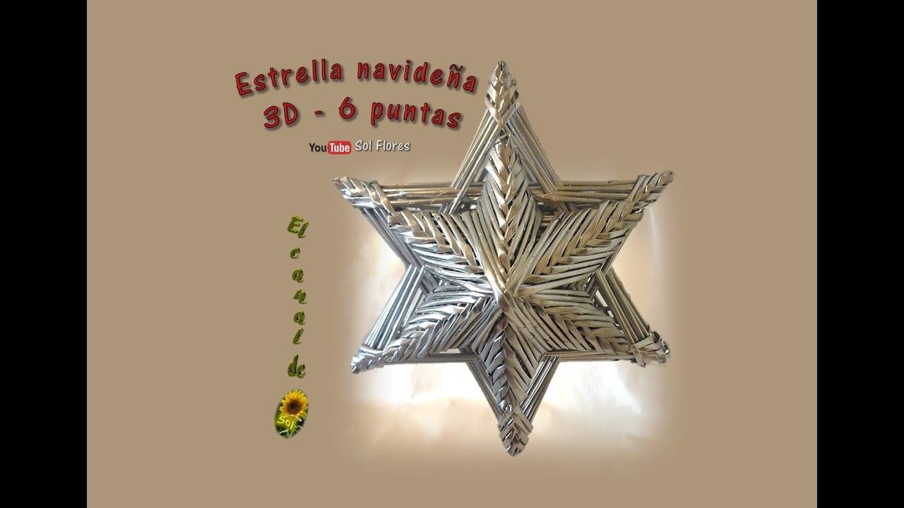Estrella 3d De Seis Puntas Con Papel Periódico 3d Star Six Pointed