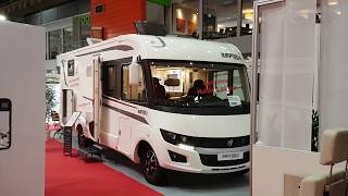 7.5 metre RV with separate toilet and shower. Rapido 896F Video