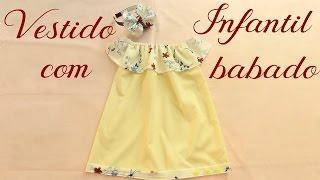 Vestido infantil com babado