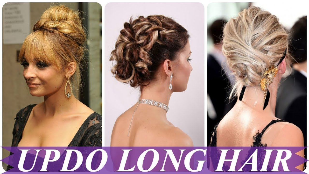 best ideas hairstyles updos for long hair 2018 for women - youtube
