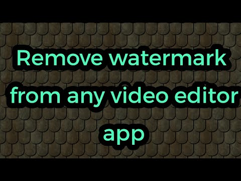How to remove watermarks logo from video Editor app powerdirector?