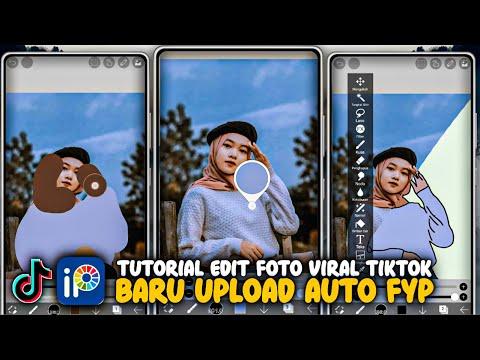 Tutorial Edit Foto Yang Lagi Viral Di TikTok - Tutorial Tiktok Ibis Paint X