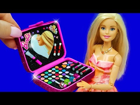 Barbie Doll Makeup Set. DIY for Kids. How to Make Miniature Crafts thumbnail