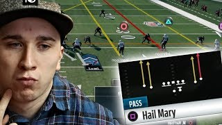 WINNING A MADDEN 18 GAME ONLY THROWING HAIL MARYS!