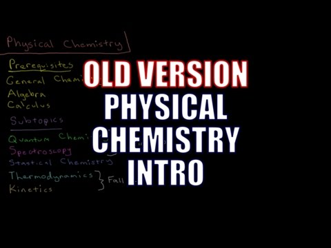 Physical Chemistry - Introduction (Old Version)