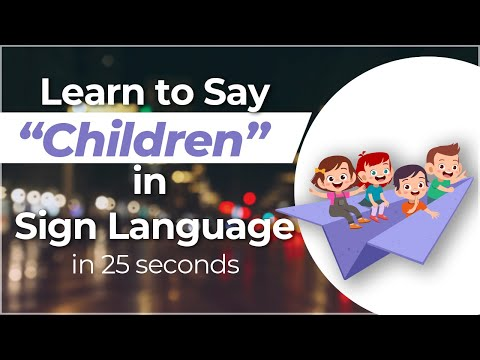 """How to Sign """"Children"""" in Sign Language? Watch Travel to Ghana Sign Series NOW!!!"""