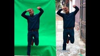 5 MINUTES Green Screen Chroma key tutorial - Water Splash Effect