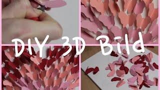 DIY 3D Schmetterlingsbild