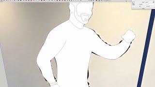 SketchUp امتداد التفتيش: منحنيات بيزيه