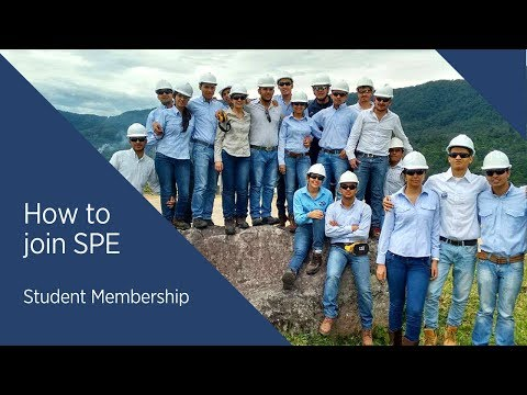 How to Sign Up for SPE Student Membership 2018