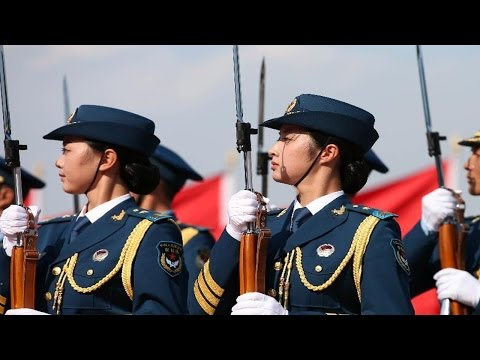 Do you know how Chinese Ladies Army to be trained? 中国女兵如何训练-为2015年9月3号 中国抗战胜利70周年阅兵准备