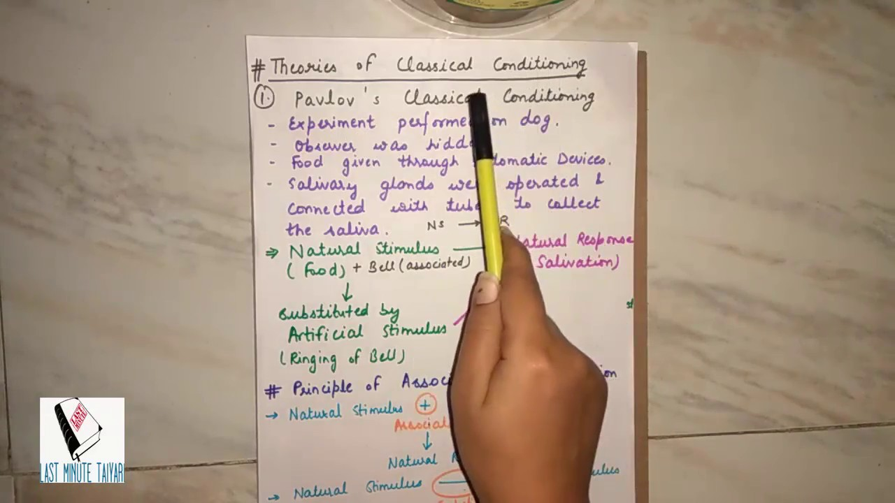 implication of classical conditioning in classroom